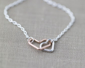 Dainty Tiny Heart Necklace |  Romantic Necklace Gifts for Her | Wife Girlfriend Jewelry Gift Ideas