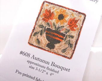 Autumn Bouquet Punchneedle Embroidery kit...pattern from Prairie Grove Peddler