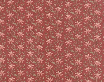 Country Orchard red floral by Blackbird Designs for moda fabrics