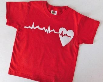 Unique Valentine shirt - toddler, baby, tween, adult, your beating heart NB 6m 9m 12m 18m 2t 3t 4t 5t 6 7 8 10 12 14 16 adult S M L XL XXL