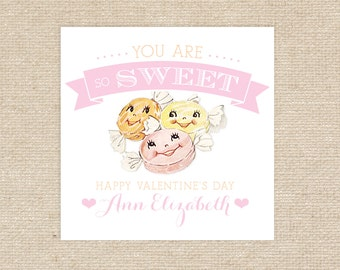 Printable Candy Valentine Tags