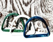 Set of 3 Vintage Acrylic Purse Handles in Blue, Green and White