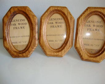 Photo Frame, Picture Frame, Wood Photo Frame, 3 Wood Picture Frames