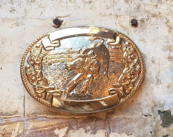 Chambers Rodeo Bull & Cowboy Belt Buckle