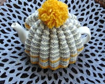 Small Hand knitted  Retro Tea Cosy