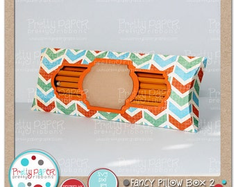 Fancy Pillow Box 2 Cutting Files - Instant Download