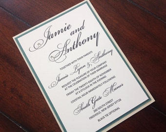 Simply Lovely Wedding Invitation