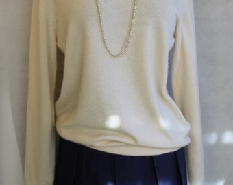 Vintage  cream cashemere sweater from Saks Fifth ave.  size medium