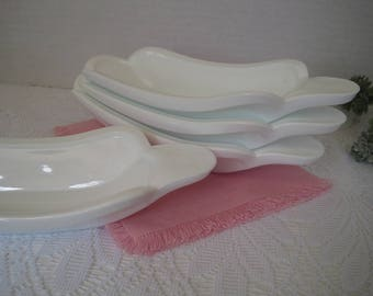 Milk Glass Ice Cream Sundae Dish Set