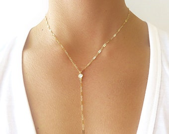 Long Lariet Necklace - Lariet Necklace - Lariat Jewelry
