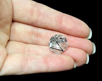 Tourmalinated Quartz Faceted Stone, Fancy Cut (5.88 carats)