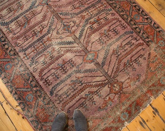 DISCOUNTED 5x6.5 Antique Distressed Lilihan Square Rug