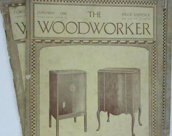 3 x 1930's Woodworker 1489753736RF