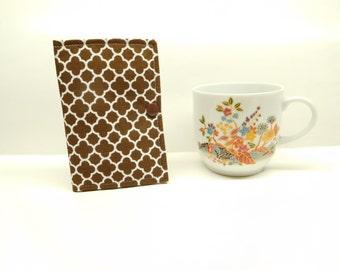 brown tea wallet, travel tea bag holder, tea bag caddy, tea bag cozy, stocking stuffer, gift under 10, teachers gift, tea lovers gift