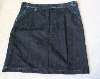 Benetton dark denim blue skirt  uk 14