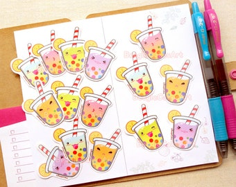 Rainbow Bubble Tea Sticker. Kawaii Sticker. Tapioca Sticker. Planner Sticker. Cute Sticker. Boba Sticker. Summer Sticker. Waterproof Sticker