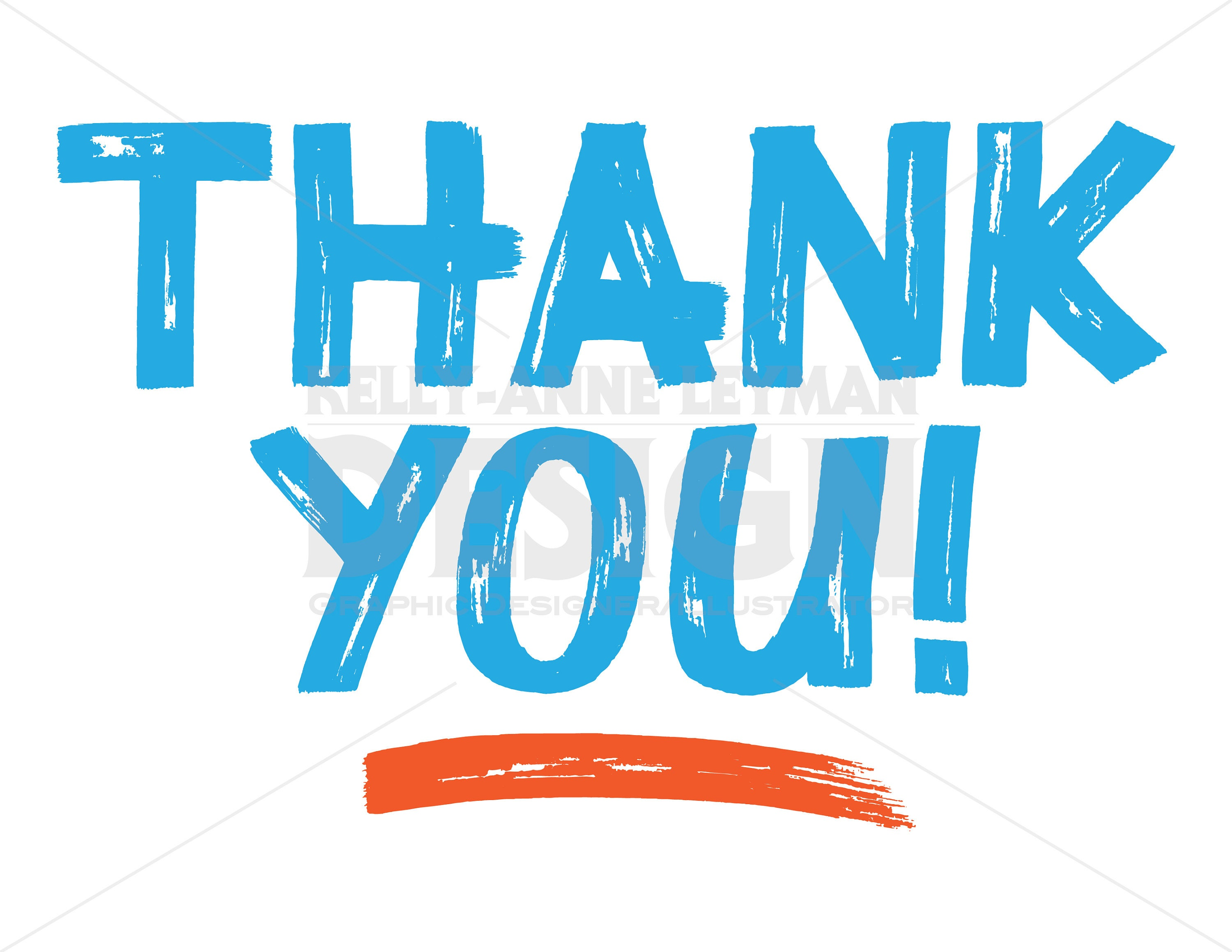 Thank You Typography Clipart Word Overlays Clip Art Set