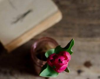 rustic home decor, pink tulip photo, farmhouse decor, rustic floral print, floral nursery art, country decor, romantic flower art,