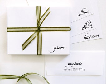 Signature Script, Personalized Stationery