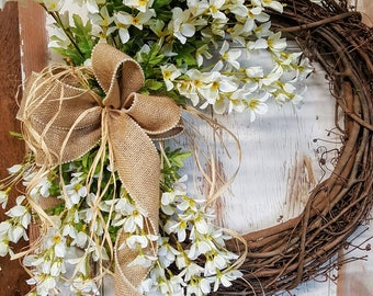 Front door wreaths, Summer wreaths, Home Decor wreaths, Wreath Great for All Year Round - Everyday Wreath, Door Wreath, Lilac floral Wreath