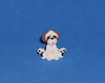 Polymer Clay Shih Tzu Puppy Dog