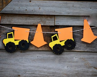 6 ft. Construction Garland, Construction Birthday Banner, Construction Baby Shower