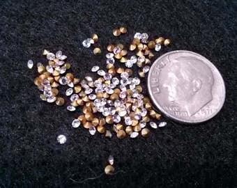 25 TINY SWAROVSKI PP12 5.5ss 1.8mm-1.9mm Rhinestones Crystal Clear Jewelry Repair