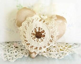 "Heart Ornament  5"" Heart Door Hanger  Victorian Style Heart Home Decor / Door Hanger Heart / Handmade CharlotteStyle Decorative Folk"