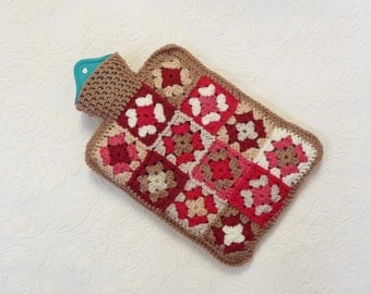 Hot water bottle cover, water bottle cozy, water bottle warmer