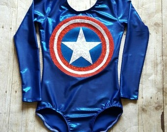 Superhero Leotard - Gymnastics Leotard - Dance Leotard - Ballet Leotard - Tumbling Leotard - Sparkle Leotard - Shiny Leotard