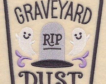 Apothecary Graveyard Dust Embroidered Flour Sack Hand/Dish Towel