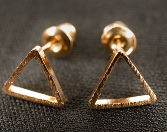 Triangle earrings Miniblings earrings geometry shapes rose gold