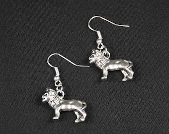 Leo earrings lion earrings Miniblings König Leo Africa big cat silver Lioness