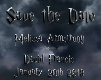 Harry Potter Save the Date, Wedding, Fandom, Fantasy, Nerd