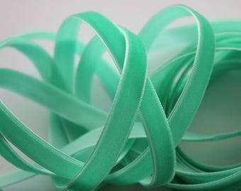 "3/8"" Velvet Ribbon - Aqua - 5 yards"