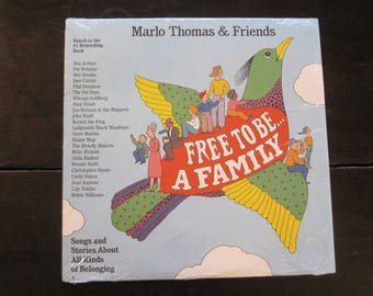 Vintage Record-Free To Be....A Family-Marlo Thomas & Friends-1988