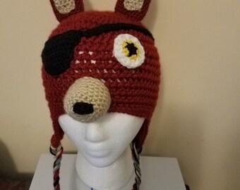 FNAF Foxy hat- crochet