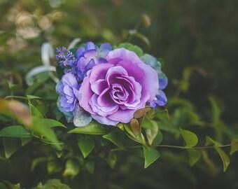 Lavender Purple Newborn Toddler Child Floral Crown Flower Halo Photo Prop