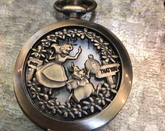 Alice pocket watch necklace