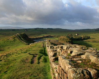 Landscape Photography, Hadrian's Wall Print, Northumberland Photograph, Landscape Art Print