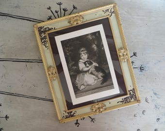 Gorgeous Antique White Picture Frame Metal Frame Shabby Chic Decor