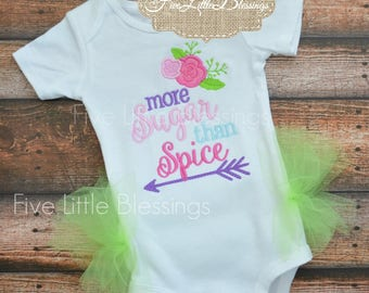 More sugar than spice - baby girl - baby shower gift - tutu - little girl outfit - birthday outfit - 1st birthday - little princess - girl