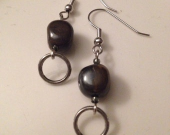 Stone Pebble Earrings