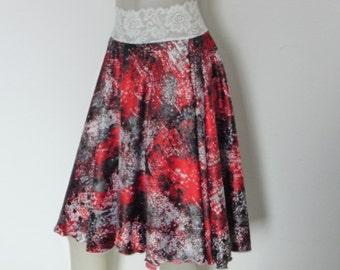 SALE Hidden Slit on left Circle Satin Skirt Argentine Tango  Skirt Size US 4 and 6 / EU 34 and 36  Milonga Dance Wear Tango adorable Jupe