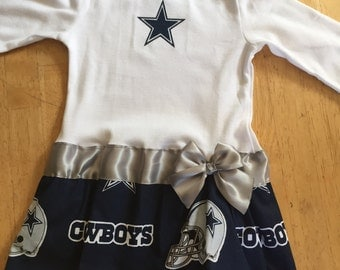 Dallas Cowboys inspired baby girl outfit