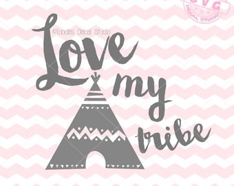Download Tribal Arrow SVG Vector Art, Love my Tribe Instant ...
