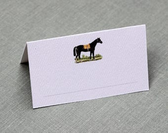 Classic Place Cards with Horse, set of 12