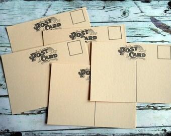 Mini Post Cards #1 - Cream
