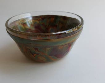 Small Serving Bowl Fall Colors