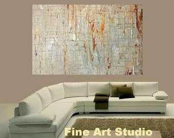 Sale XLarge Abstract  Gallery painting,Original contemporary Art, Ready to hang  by Nicolette Vaughan Horner 30 x 40